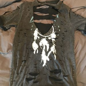 Tops - Distressed tee!